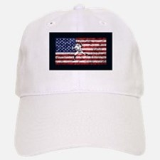 Baseball Player On American Flag Baseball Baseball Baseball Cap