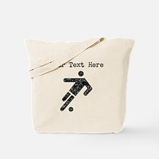 Distressed Soccer Player (Custom) Tote Bag