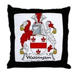 Waddington Family Crest Throw Pillow