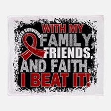 Multiple Myeloma Survivor FamilyFrie Throw Blanket