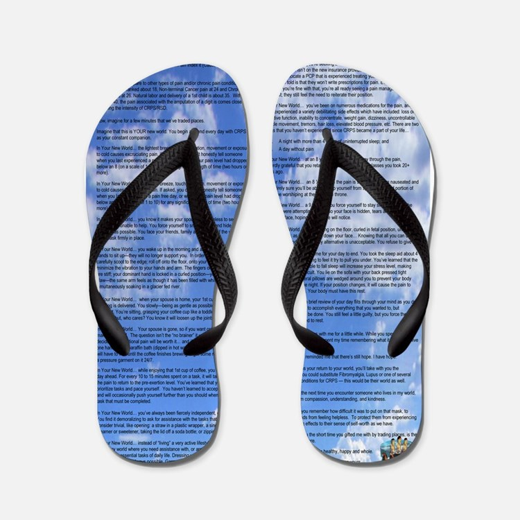 A World With CRPS - 39 x 25 Wall Peel C Flip Flops