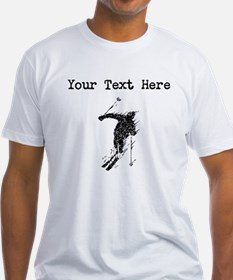 Distressed Downhill Skier (Custom) T-Shirt