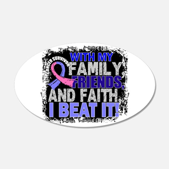 Male Breast Cancer Survivor Wall Decal