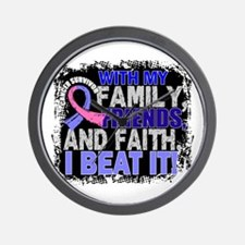Male Breast Cancer Survivor FamilyFrien Wall Clock
