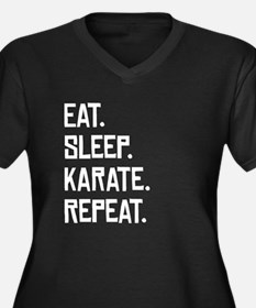 Eat Sleep Karate Repeat Plus Size T-Shirt