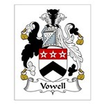 Vowell Family Crest Small Poster