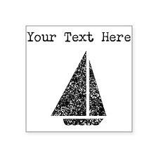 Distressed Sail Boat (Custom) Sticker