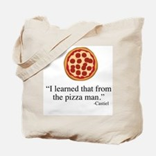 Supernatural Castiel's Pizzaman Tote Bag