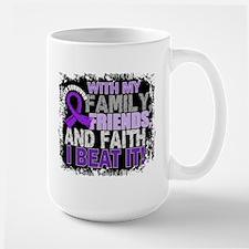 Leiomyosarcoma Survivor FamilyFriendsFa Ceramic Mugs