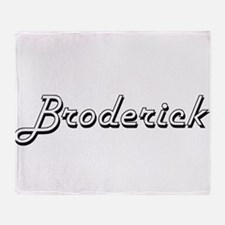 Broderick surname classic design Throw Blanket