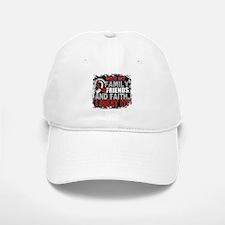 Head Neck Cancer Survivor FamilyFriendsFaith Baseball Baseball Cap