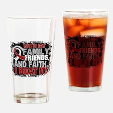 Head Neck Cancer Survivor FamilyFri Drinking Glass