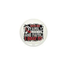 Head Neck Cancer Survivor FamilyFriend Mini Button