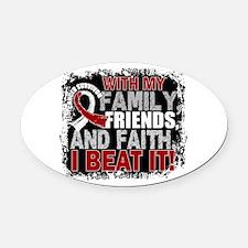 Head Neck Cancer Survivor FamilyFr Oval Car Magnet
