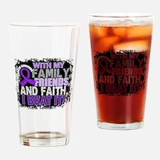 GIST Survivor FamilyFriendsFaith Drinking Glass