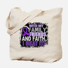 GIST Survivor FamilyFriendsFaith Tote Bag