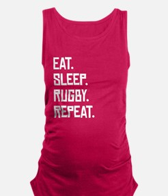 Eat Sleep Rugby Repeat Maternity Tank Top