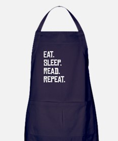 Eat Sleep Read Repeat Apron (dark)