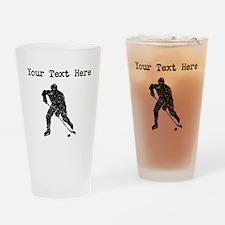 Distressed Hockey Player Silhouette (Custom) Drink