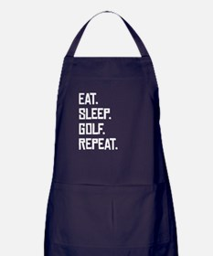 Eat Sleep Golf Repeat Apron (dark)