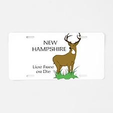 NH Deer Aluminum License Plate