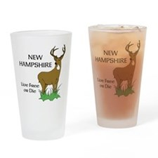 NH Deer Drinking Glass