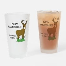 NH Deer Drinking Glass