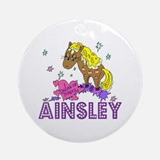 I Dream Of Ponies Ainsley Ornament (Round)