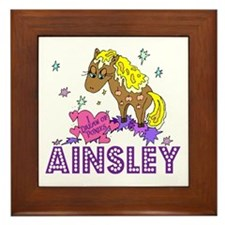 I Dream Of Ponies Ainsley Framed Tile
