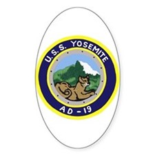 USS Yosemite (AD 19) Oval Decal