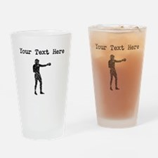 Distressed Boxer Silhouette (Custom) Drinking Glas