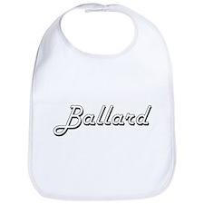 Ballard surname classic design Bib