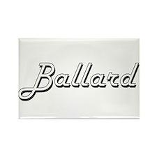 Ballard surname classic design Magnets