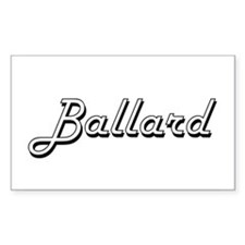 Ballard surname classic design Decal
