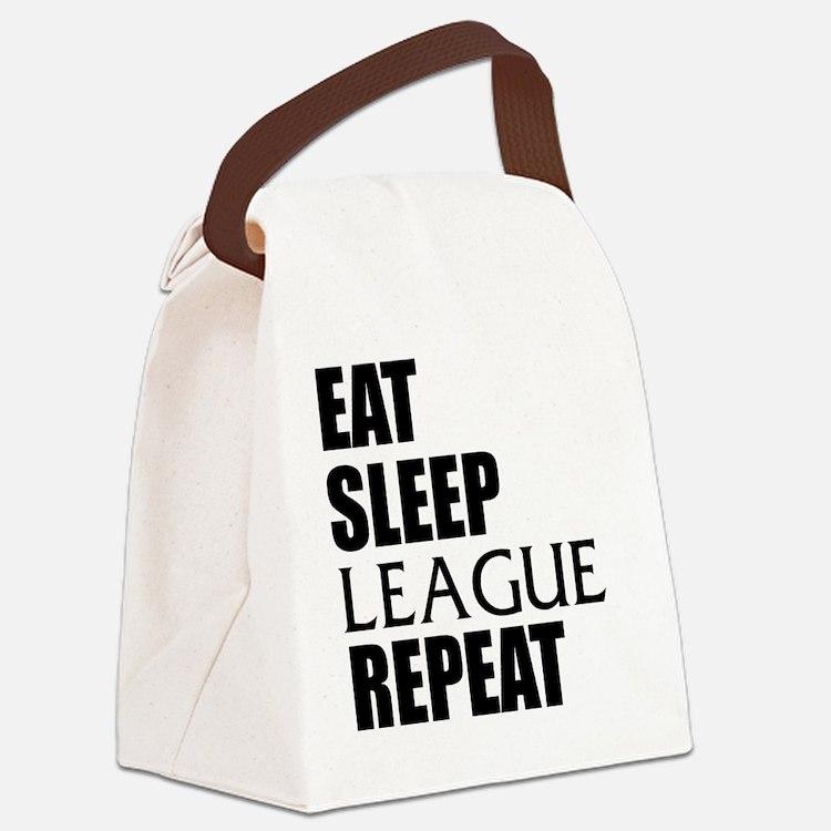 Eat Sleep League Repeat Canvas Lunch Bag