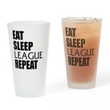 Eat Sleep League Repeat Drinking Glass
