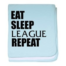 Eat Sleep League Repeat baby blanket