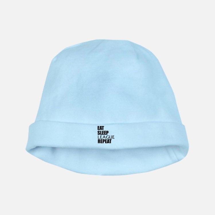 Eat Sleep League Repeat baby hat