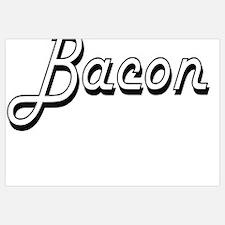 Funny I heart bacon Wall Art
