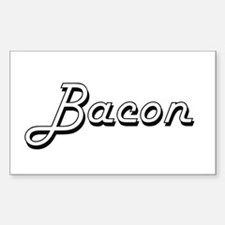 Bacon surname classic design Decal