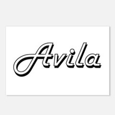 Avila surname classic des Postcards (Package of 8)