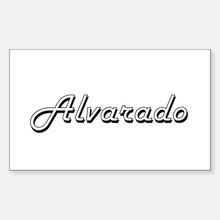 Alvarado surname classic design Decal