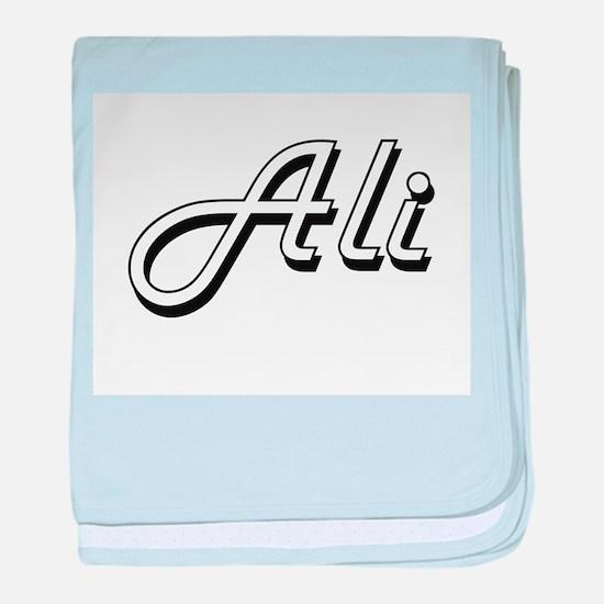 Ali surname classic design baby blanket