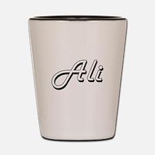 Ali surname classic design Shot Glass