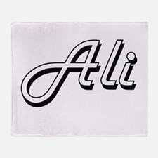 Ali surname classic design Throw Blanket