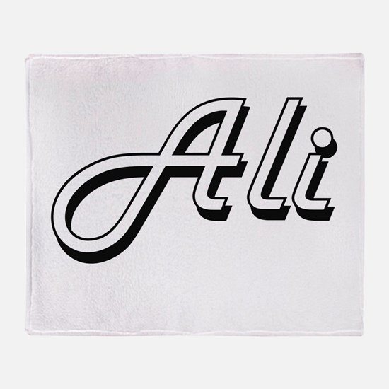 Ali surname classic design Throw Blanket