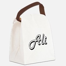 Ali surname classic design Canvas Lunch Bag