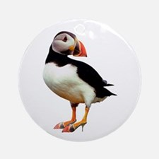 Puffin Wearing Shoes Keepsake (Round)