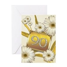 90th birthday card with lovely daisies Greeting Ca