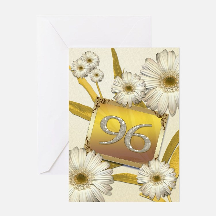 96th birthday card with lovely daisies Greeting Ca